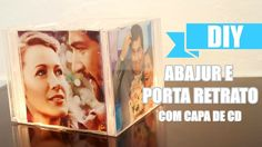 DIY: Abajur/Porta Retrato com capa de cd