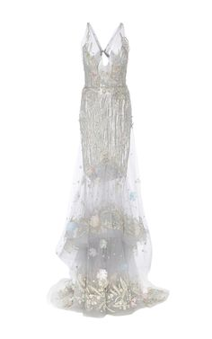 Marchesa Silver Gown