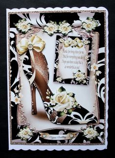 Bumper Kit Ladies Shoes on Craftsuprint - View Now! Ladies Shoes, I Card, Decoupage, Kit, Lady, Blog, Handmade, Crafts, Hand Made