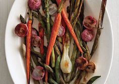 Roasted Spring Vegetables.  High-heat roasting concentrates vegetables' flavor and brings out their sweetness­—a big reward for little effort.