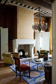 #Living #Room by Jacques Grange