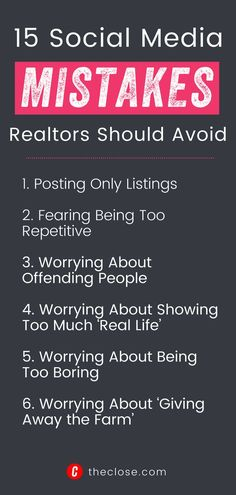 Social media is still a mystery for a lot of real estate agents. Unfortunately, this means even the best real estate agents make mistakes, blunders, and faux pas that could easily be avoided. In this article, we're going to walk through the top 15 things you should avoid doing on you real estate social media marketing efforts, and talk about some real estate strategies you can use to actually power up your real estate business. Real Estate Business, Real Estate Marketing, Social Media Marketing, Facebook All, Losing Someone, Mistakes, Real Life, How Are You Feeling, Estate Agents