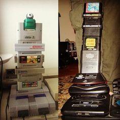 Heavy stacking  . . . . #retro #retrogames #retrogaming #retrogamer #nintendo #sega #playstation #xbox #oldschool #atari #nes #snes #gameboy #megadrive #n64 #videogames #gaming #geek #pixels #16bit #8bit #90s #80s #childhood #nostalgia #sonic #supermario #pokemon #finalfantasy #zelda