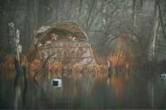 Duck House Waterfowl Blind...if they'd actually brush it up, it wouldn't look half bad