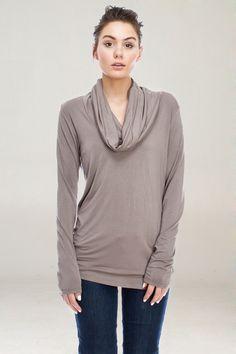 Mocha Pullover // love the cowl neck