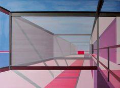 "Saatchi Art Artist Cécile van Hanja; Painting, ""Pink space"" #art"