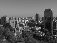 Cerro Sta Lucia,vista de fondo ciudad de Santiago,Chile.