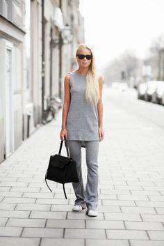 victoria tornegren adidas originals superstars grey knit set street style