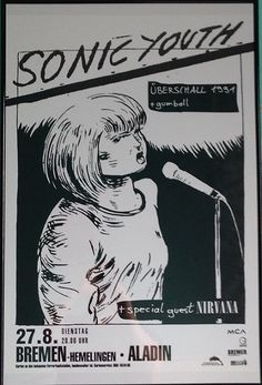 Classic #gigposter for Nirvana and Sonic Youth.