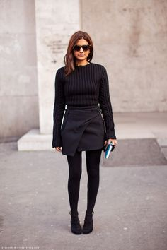 Christine Centenera in the all black #StreetStyle