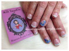 #sns #nail #nails #roses #blue #blue #bleu #opi #frencmanicure #manucurefrancaise @chez_miss_tinguette #villeray