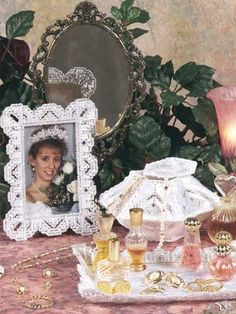 Satin and Lace Vanity Set