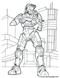 Print Halo Coloring Pages Picture