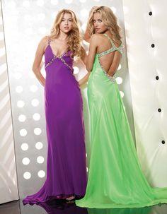 Purple V-Neck Long Beading Evening Dress - http://www.vudress.com/