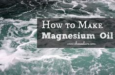 I have had great results with magnesium oil. I spray it on every day. Magnesium is known as the calming mineral, and I don't know about you but most of us could benefit from some stress reduction. Many people find that magnesium oil reduces or eliminates Natural Health Remedies, Natural Cures, Natural Healing, Holistic Healing, Magnesium Spray, Magnesium Chloride, Magnesium Flakes, Dyi, Homemade Body Care