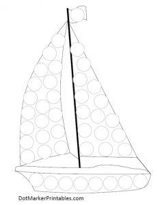 DotMarkerPrintables_Transportation_Sailboat