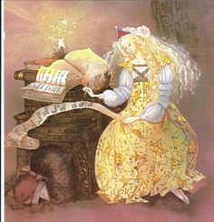 Fairy tale book plate by Beverlie Manson - 1970s