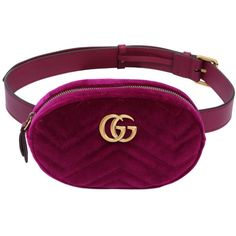 88b9aee25ac Gucci GG Marmont Matelasse Velvet Belt BagQuilted velvet and leather pouch.  Detachable and adjustable belt-style strap with pin-buckle fastening.
