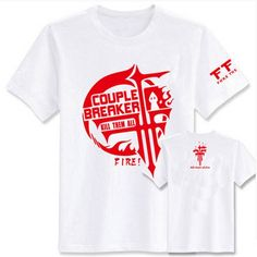Camplayco Baka and Test FFF Team Logo White T-shirt Cosplay Costume Size M -- To view further for this item, visit the image link.