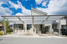 Carport Garage, Garage Doors, Car Parking, Canopy, Concrete, Porch, Exterior, Mansions, House Styles