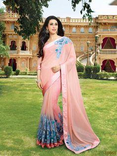 #bestoffer for #Navratri  #Bollywood #KarishmaKapoorSaree #GeorgetteSaree #TusserSilkSaree #NetSaree Available #EmbroideryWork #Buy #Shopnow (Cat -KarishmaKapoor-5679)