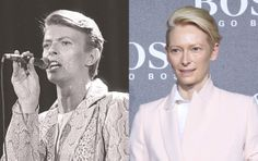 David Bowie - Tilda Swinton (Images of David Bowie and Tilda Swinton provided by Getty Images)