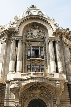 București (Bucharest, Romania) - Biblioteca Națională a României Neoclassical Architecture, Classic Architecture, Historical Architecture, Amazing Architecture, Architecture Details, Balcon Juliette, Capital Of Romania, Visit Romania, Little Paris