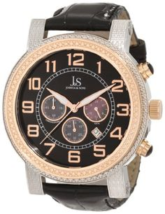 Men's Wrist Watches - Joshua  Sons Mens JS07TTR Stainless Steel Chronograph Strap Watch ** You can find out more details at the link of the image. (This is an Amazon affiliate link)