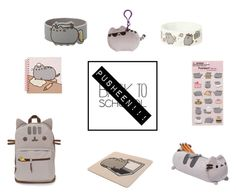"""""""Pusheen"""" by jennagracesergent ❤ liked on Polyvore featuring art, BackToSchool, pusheen and inmybackpack"""