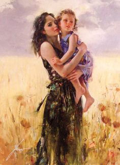 Beautiful painting for Bedroom Close To My Heart by Pino Daeni Canvas Art Reoproduction Home Decor hand painted high quality