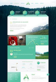 Alai on Behance Website Design Inspiration, Website Design Layout, Web Layout, Layout Design, Design Web, Webdesign Inspiration, Newsletter Layout, Google Material Design, Desktop Design