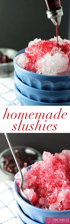 How to make Homemade Slushies and simple syrup || Perfect summer treat!
