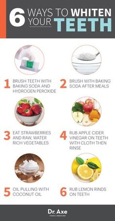 6 Ways to Whiten Your Teeth Naturally - DrAxe.com *** Get a free blackhead mask, link in bio! @beautycharcoal