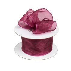 """Burgundy 1.5"""" Wired Edged Organza Ribbon [more at pinterest.com/eventsbygab]"""