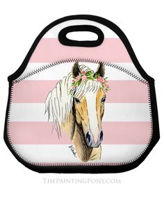 Haflinger Horse, Lunch Tote Bag, Hunter Jumper, Cowgirl Style, Dressage, Equestrian, Pony, Horses, Pony Horse