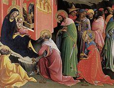 Adoración de los Magos, Lorenzo Monaco, Florencia, Galleria degli Uffizi