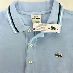 Sky Blue LACOSTE XL Mens Classic Pique Polo Shirt New Size 7