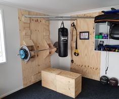 Functional Corner Home Gym - Wolfgang Schöndorf - Functional Corner Home Gym I was after another home gym, but I didn't want another big metal cage rusting outside or taking up valuable space inside. I wanted something more minimal that. Home Made Gym, Diy Home Gym, Home Gym Decor, Gym Room At Home, Best Home Gym, Home Gym Garage, Basement Gym, Backyard Gym, Small Home Gyms