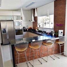 Kitchen Room Design, Home Room Design, Kitchen Cabinet Design, Home Decor Kitchen, Kitchen Furniture, Kitchen Interior, Kitchen Cupboard Doors, Modern Kitchen Cabinets, Open Plan Kitchen Dining Living