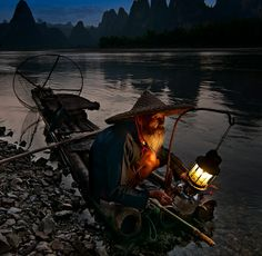 Openning morning person - Guilin Fisherman. #china #WindhorseTour