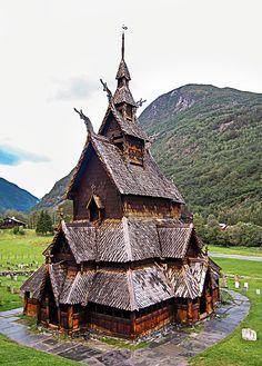 Borgund stavkirke - a stave church built sometime between 1180 and 1250 in Borgund, Lærdal, Norway. (Photo by Hans Olav Elsebø)