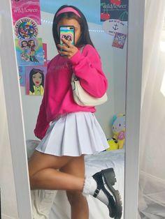 Indie Fashion, Aesthetic Fashion, Aesthetic Clothes, Look Fashion, Streetwear Fashion, Teen Fashion, Fashion Outfits, Indie Outfits, Cute Casual Outfits