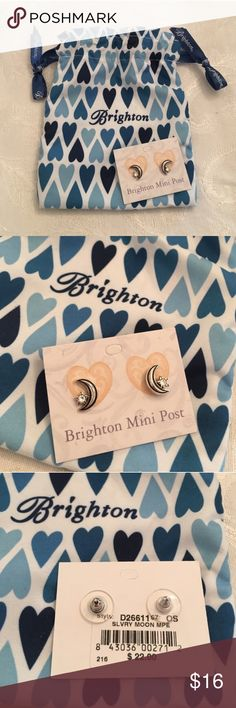 NEW! Brighton earrings! NEW WITH TAGS Brighton earrings. Beautiful mini post silver moon and star shaped. Comes with the bag. Brighton Jewelry Earrings