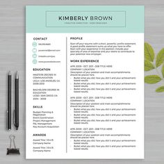 19 best resume templates microsoft word images on pinterest