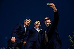J. La Plante Photo   Estes Park Wedding Photographer   @dellaterramc Wedding   Fall Wedding   Groomsmen Taking Selfie