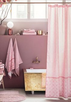 Darling Shower Curtain: You need this shower curtain, which looks extra stylish when paired with gold curtain rings. For more about H&M's home sale, click through!