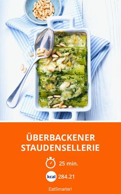 Baked celery with herbs - Trend Fitness Female 2020 Veggie Recipes, Lunch Recipes, Pasta Recipes, Veggie Meals, Superfood, Recipes From Heaven, Eat Smarter, One Pot Meals, Low Carb