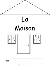 La Maison, (The House), a printable book in French from Enchanted Learning Study French, Core French, French Class, French Lessons, Learn French, French Teacher, Teaching French, French Articles, French Resources