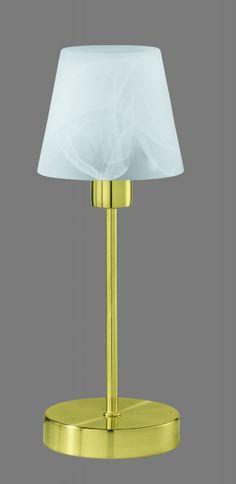 5955 - TRIO - dotyková lampa - matná mosadz - biely alabaster
