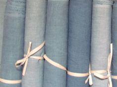 woad dyed linen from www.elizabetheakins.com